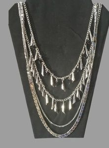 Women's Layered Necklace And Earring Set